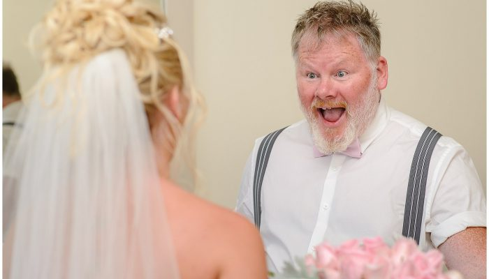 Dad's reaction to first look